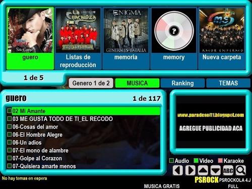 pc con 500gb musica videos programa para rockola