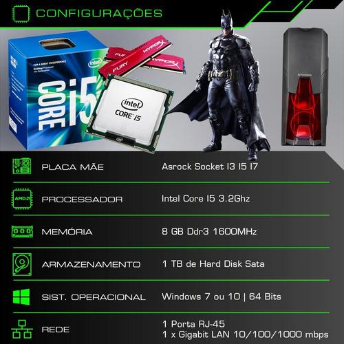 pc cpu gamer core i5 1tb 8gb geforce 2gb + kit gamer