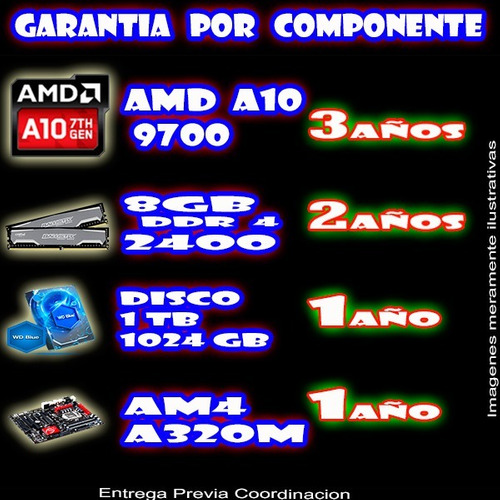 pc gamer a10 8gb ram 1tb disco 2gb video cyc-informatica