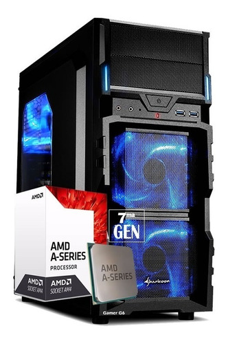 pc gamer amd a10 9700 12gb ddr4 1tb hdd video r7 2gb vg5w