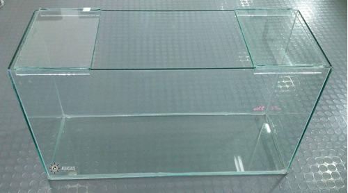 pecera de vidrio rectangular 70 litros - aquassius