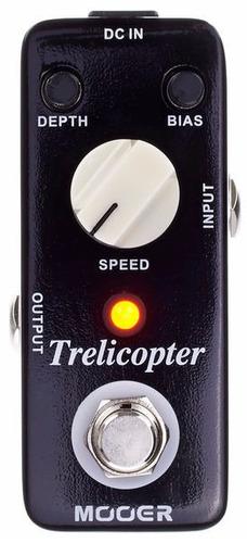 pedal de tremolo para guitarra mooer trelicopter