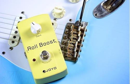 pedal joyo roll boost clean booster +35db para guitarra