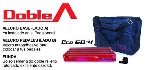 pedalboard doble a® - modelo eco 60-4 (incluye estuche)