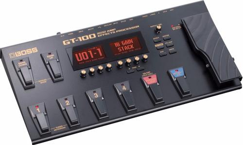 pedalera boss gt 100 nueva con su cable de corriente