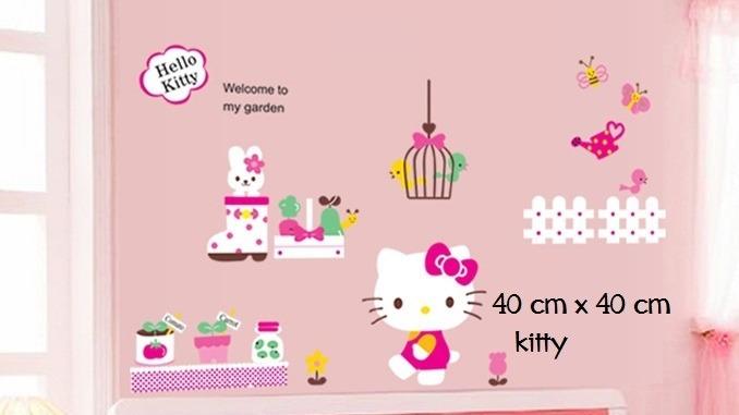 Vinilos Hello Kitty Pared.Pegotin Vinilo De Pared Hello Kitty