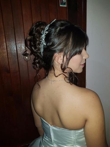 peinados a domicilio -15 años, novias y fiestas en gral.