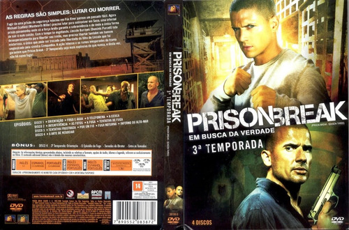 pelicula dvd 100% original prison break temporada 3 disco 3