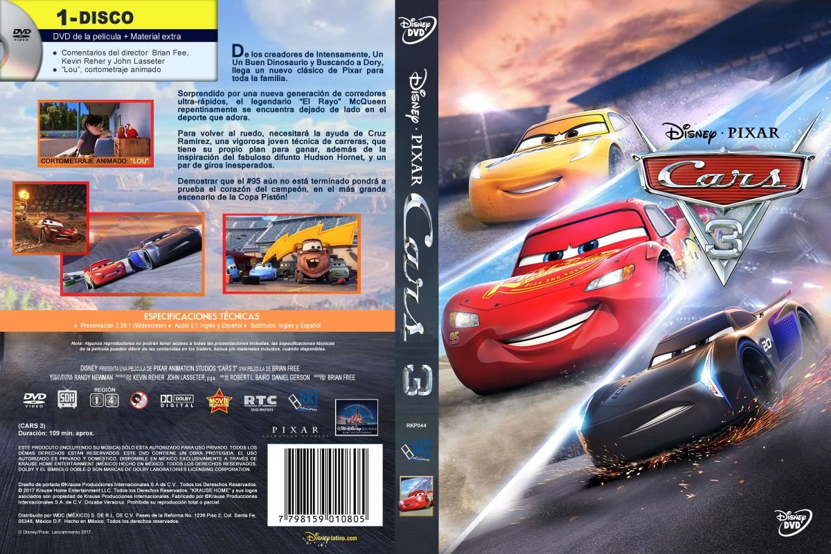 pel cula infantil cars 3 dvd full espa ol latino 80 00 en mercado libre. Black Bedroom Furniture Sets. Home Design Ideas