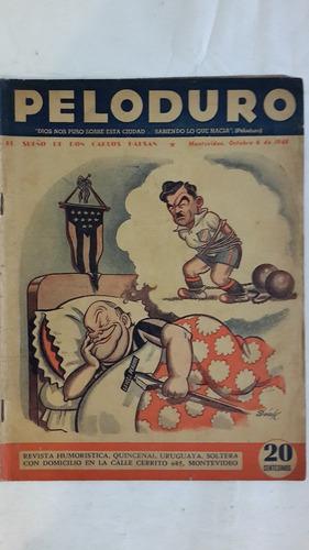 peloduro nº 105, revista de humor uruguayo, 1948