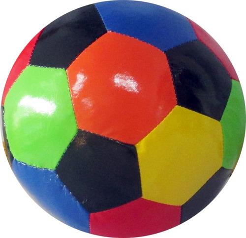 pelota cuerina multicolor mediana - impre$ionante