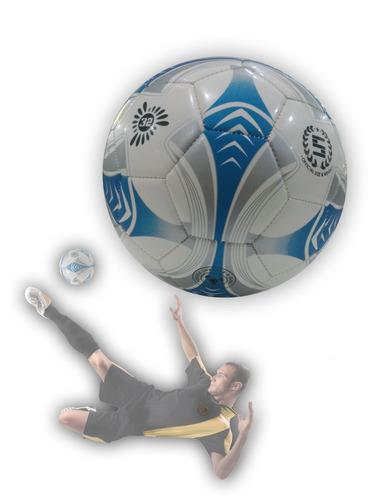 pelota de futbol nº5 blanca y celeste