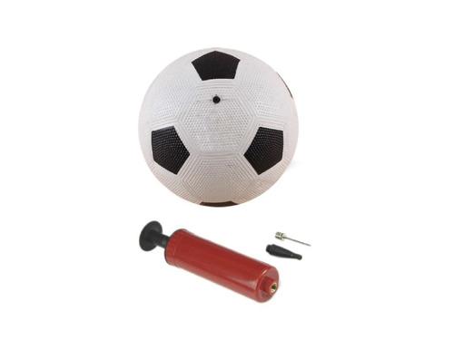 pelota de fútbol n°5 con inflador motociclo