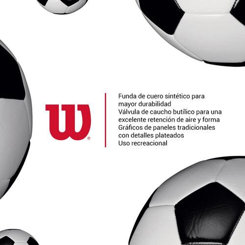 pelota de fútbol wilson tradicional clásica cancha no.5
