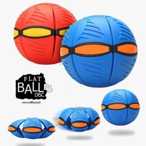 pelota frisbee voladora phlat ball novedad