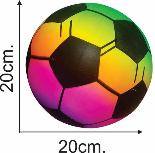 pelota pvc futbol multicolor / juguete - el regalón