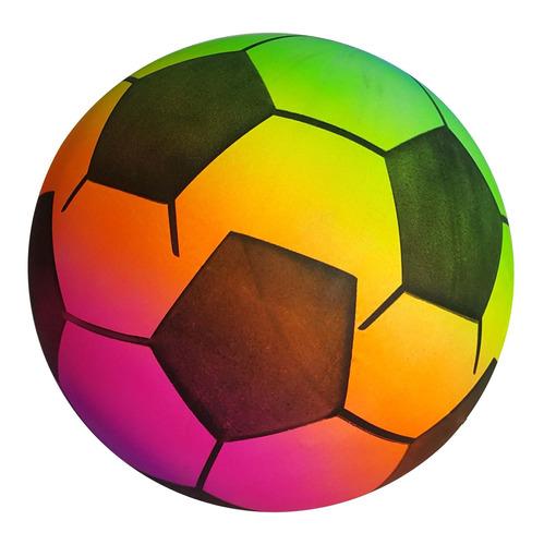 pelota pvc futbol multicolor juguete playa aire libre deport