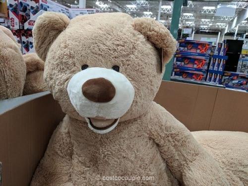 peluche 100cm 1m aproximados oso grande gigante beige marron