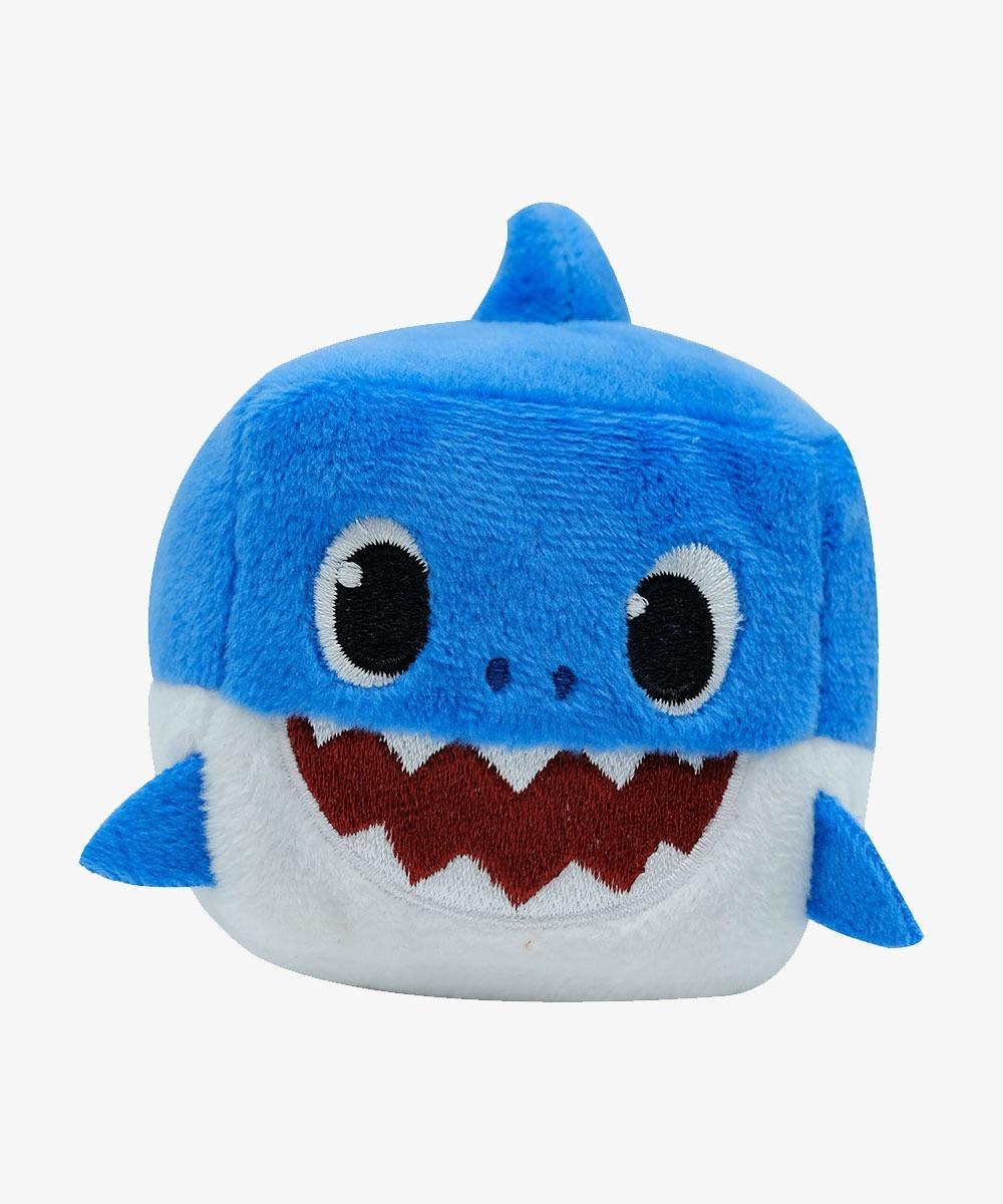 Peluche Cubo Baby Shark + Llavero Emoji Plushi Pals - Zoo K