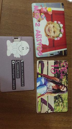 pendrive tarjeta personalizados 16 gb