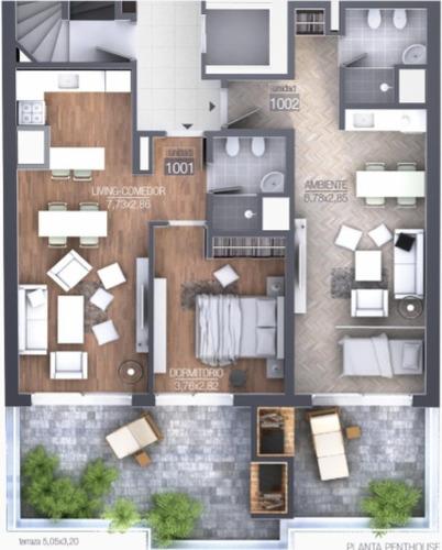 penthouse 1 dormitorio a estrenar