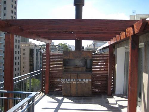 penthouse sobre avda brasil con terraza con parrillero