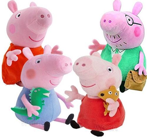 peppa pig e familia 4 personagens de pelucias antialérgico