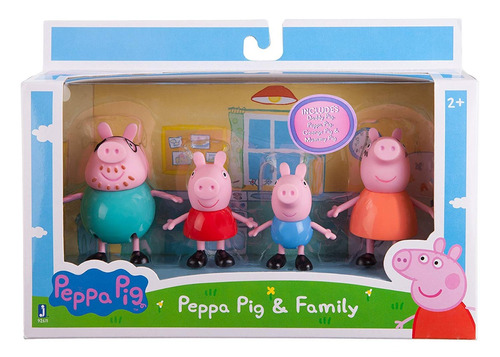 peppa pig family 4 figure packtoys   games
