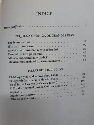 pequeña crónica de grandes días. octavio paz. f. c. e. 1990