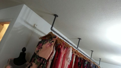 perchero barra organizadora ideal casa o tienda mas gruesas