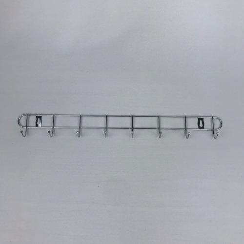perchero colgador metal cromado con 8 ganchos