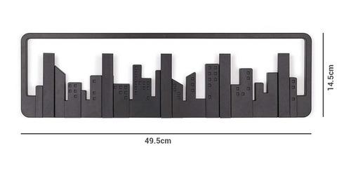 perchero de pared ciudad new york con ganchos mvdsport
