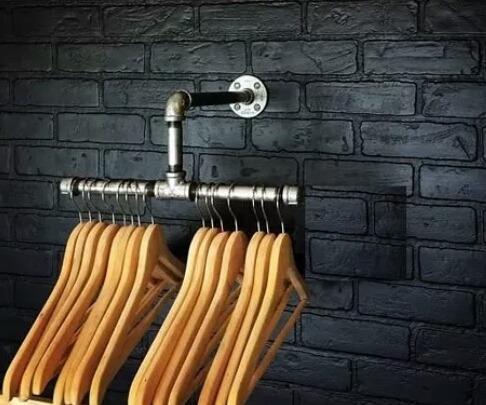 perchero de pared industrial en caño hierro rústico, fasur