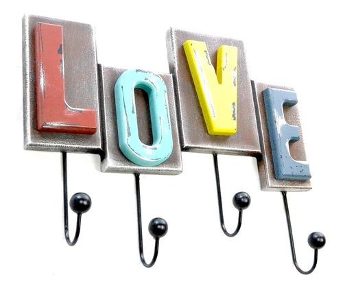 perchero love - decoracion - envío gratis a xxx