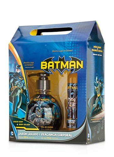 perfume body splash + jabon liquido batman