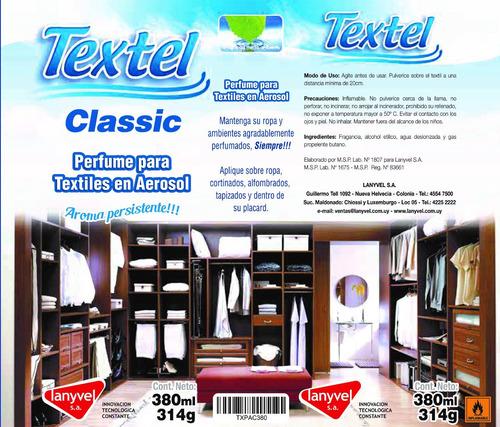 perfume para textiles en aerosol - aroma classic  / lanyvel