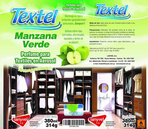 perfume para textiles en aerosol - manzana verde  / lanyvel
