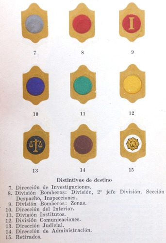 peron era reglamento uniforme policia federal argentina 1947