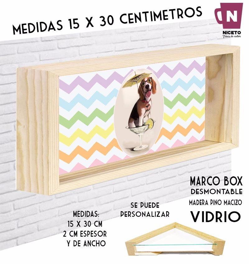 Perro Beagle Cuadro Marco Box 15 X 30 C/vidrio - $ 300,00 en Mercado ...