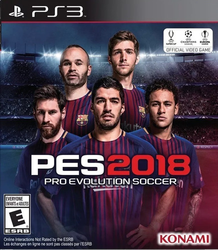 pes 2018 18 pro evolution soccer 2018 18 ps3 play 3 juego