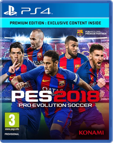 pes 2018 18 pro evolution soccer 2018 ps4 play 4 juego pes18