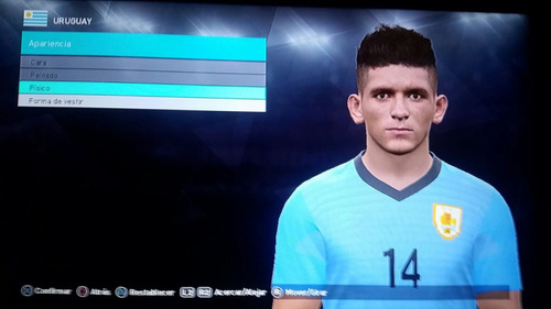 pes 2018 world cup mundial 2018 ps3 fabropatch + uruguayo