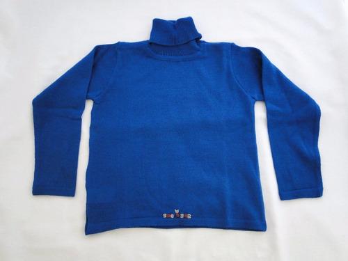 petit pómme polera acrílico azul ropa infantil 4t