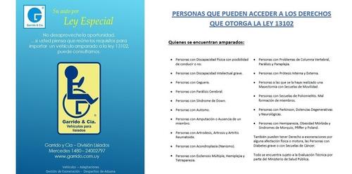 peugeot 301 para personas con discapacidad. ley 13102