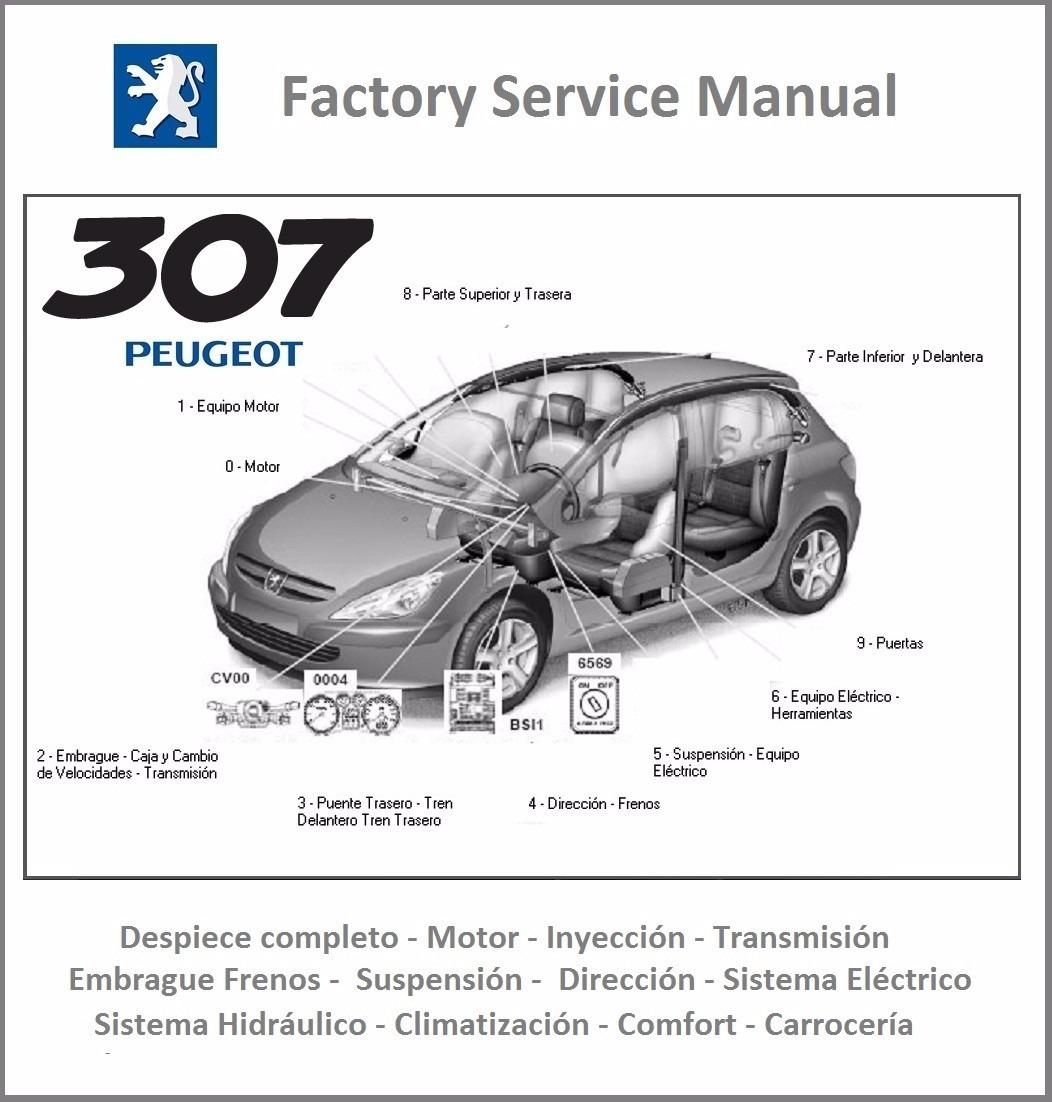 Peugeot 307 Manual Taller Reparacion Diagramas Espa U00f1ol