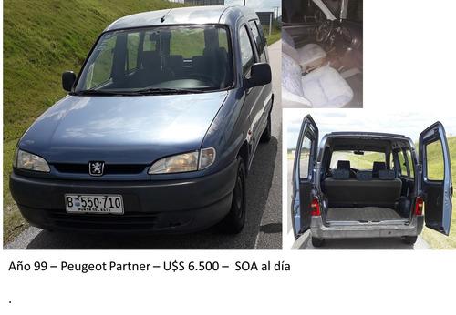 peugeot partner año1999 u$s6.500(dólares)