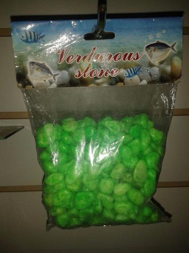piedra de colores para pecera-acuarios 1/2 kg el paquete