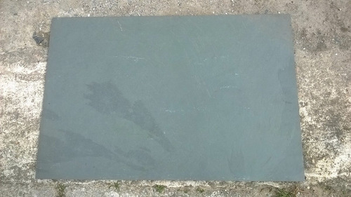 piedra natural ardosia pizarra gris 40 x 60 cm.