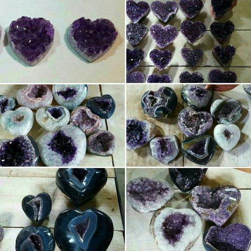 piedras amatistas corazones piedra amatista corazón energia