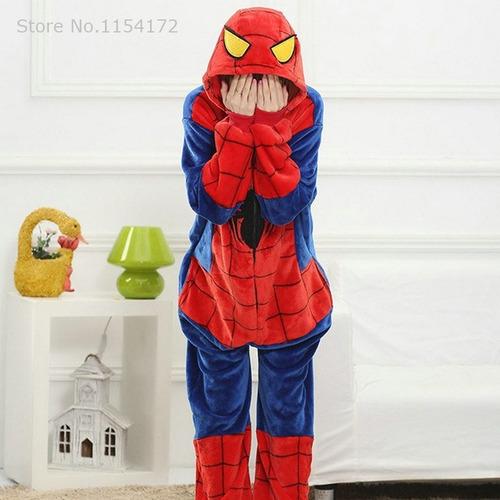 pijama kigurumi unicornio  hombre araña + adultos